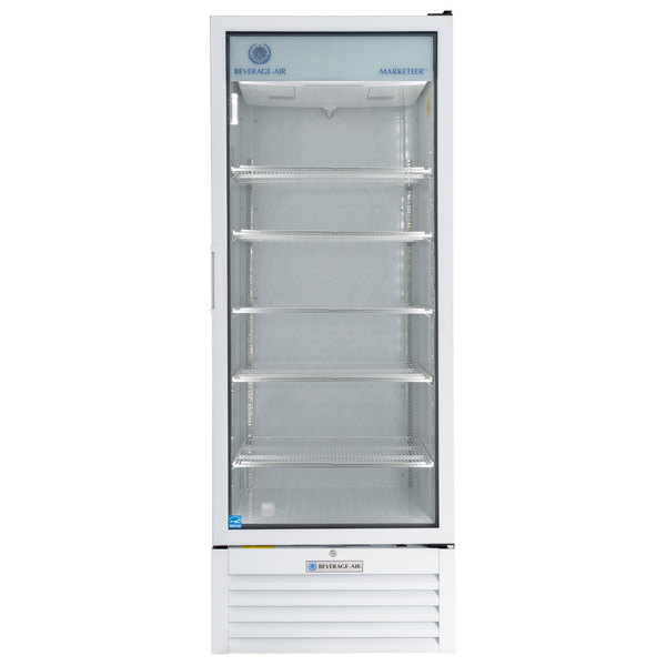 Beverage-Air LV27HC-1-W LumaVue 30 inch White Refrigerated Glass Door Merchandiser with LED Lighting