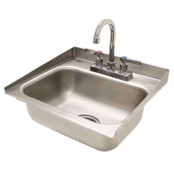 Advance Tabco Di 1 30 Drop In Stainless Steel Sink With 2 Tapered Side Splash 14