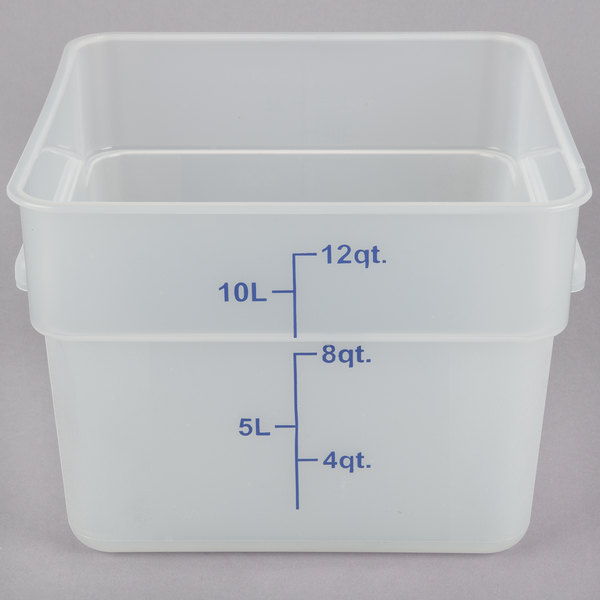 This Food Storage Container Is Perfect For Restaurants, Caterers, Delis,  And Cafes. The Textured Bottom Provides Durability Against Scratches And  Doubles As ...