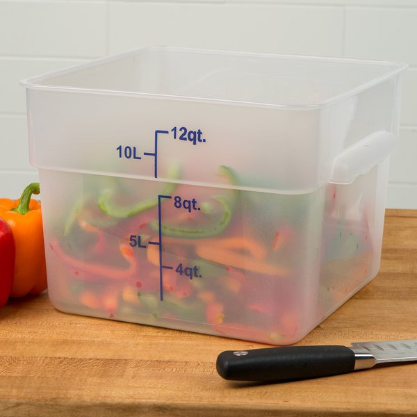 Translucent polypropylene food storage container