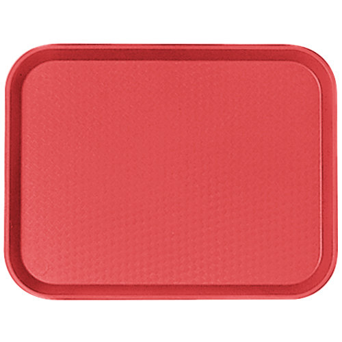 "Cambro 1216FF163 12"" x 16"" Red Customizable Fast Food Tray - 24/Case"