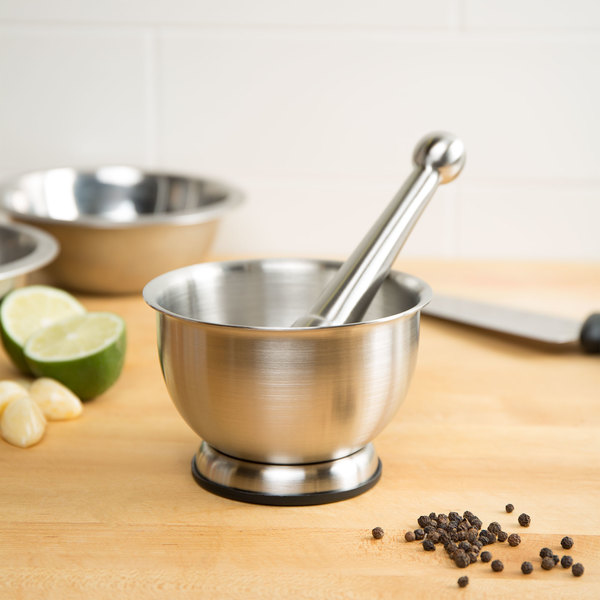 """5"""" Stainless Steel Mortar and Pestle Set"""