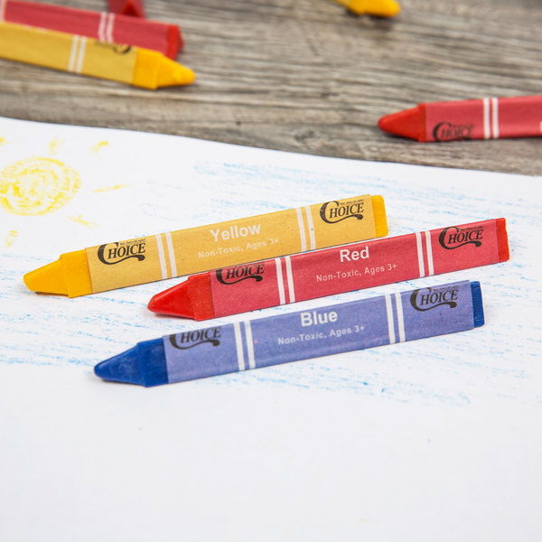 choice 3 pack triangular kids restaurant crayons in cello wrap