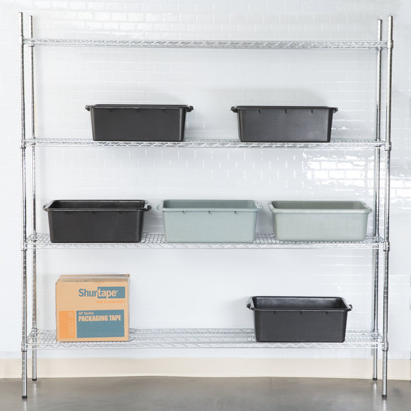 "Regency 14"" x 72"" NSF Chrome 4-Shelf Kit with 74"" Posts Main Image 3"