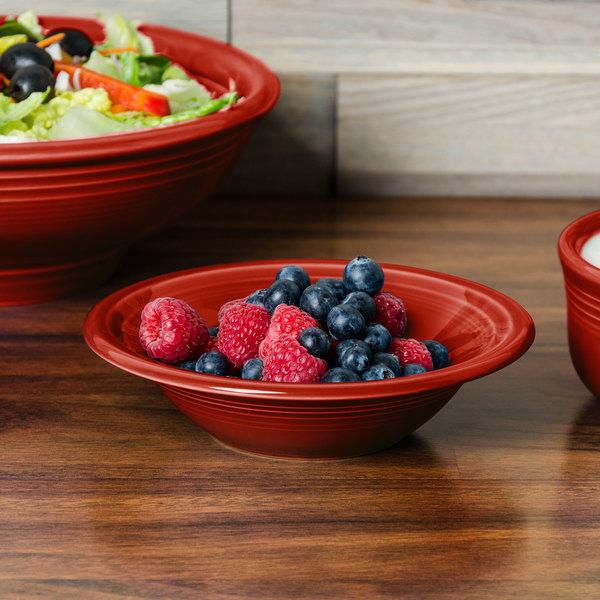 Homer Laughlin 472326 Fiesta Scarlet 11 oz. Stacking Cereal Bowl - 12/Case