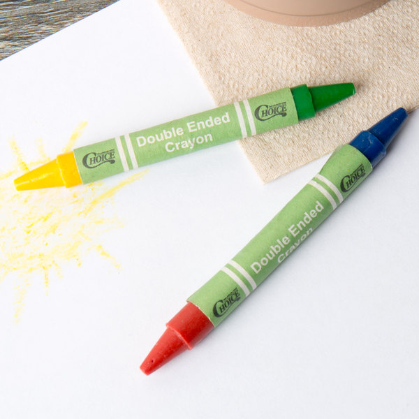 choice 2 pack double ended kids restaurant crayons 500 case