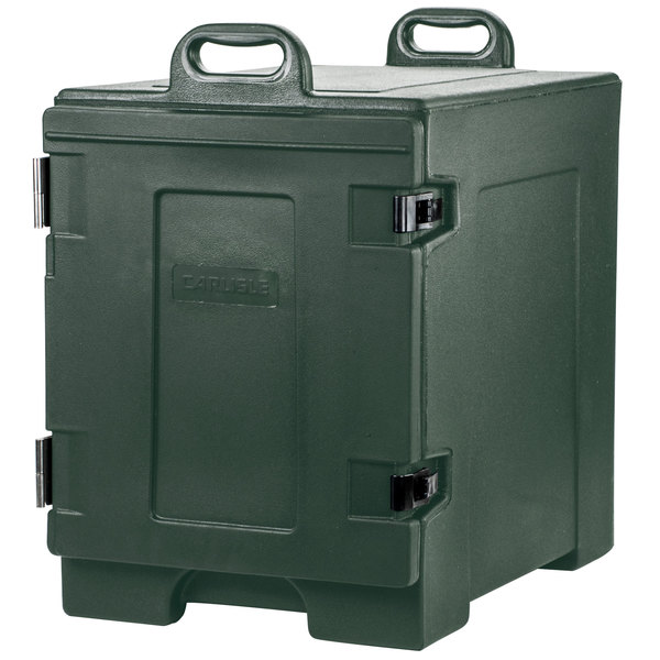 "Carlisle PC300N08 Cateraide 16 3/4"" x 24"" x 25"" Forest Green Food Pan Carrier"