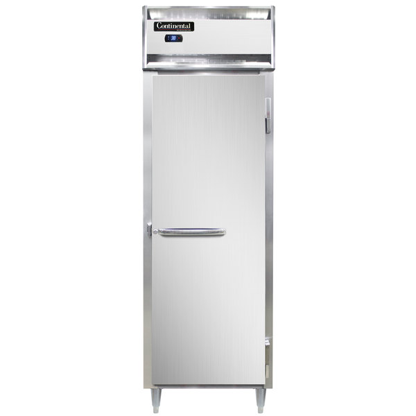 """Continental DL1RS-SS 26"""" Shallow Depth Solid Door Reach-In Refrigerator Main Image 1"""