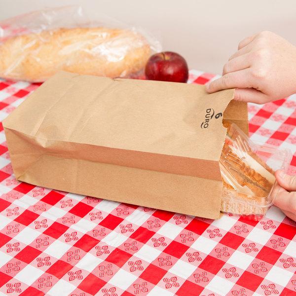 Duro 6 lb. Brown Paper Bag - 500/Bundle