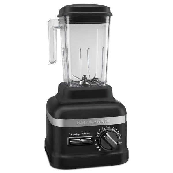 KitchenAid KSBC2F1BM Matte Black 3.5 hp 60 oz. Variable Speed Blender with Programmable Coulis Cycle - 120V
