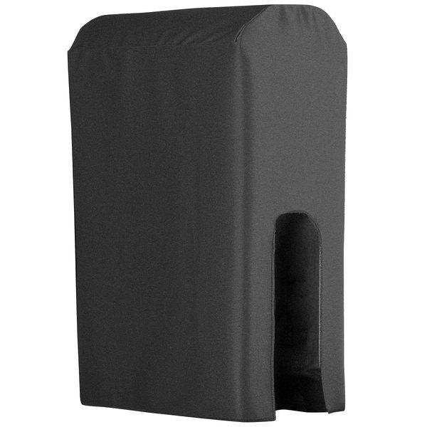 Snap Drape BDCWYN25CHAR Wyndham Charcoal 2.5 Gallon Polyester Beverage Dispenser Cover