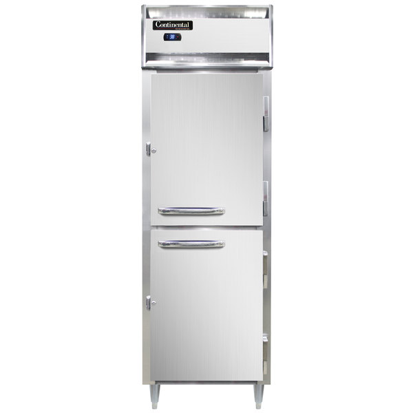 "Continental D1RNPTHD 26"" Solid Half Door Pass-Through Refrigerator Main Image 1"