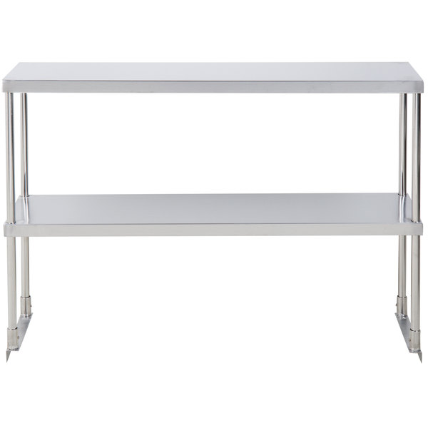 """12/"""" x 48/"""" Stainless Steel Work Prep Table Commercial Double Deck Overshelf Shelf"""