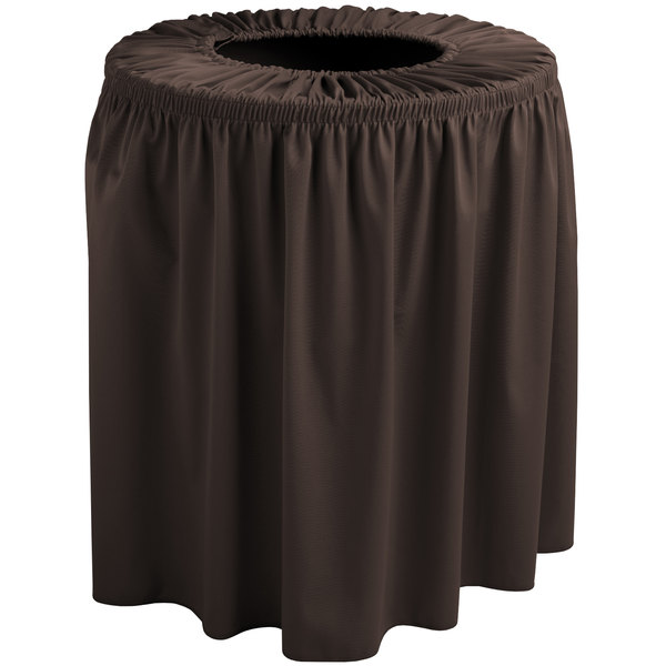 Snap Drape TCCWYN35BROWN Wyndham 35 Gallon Brown Shirred Pleat Trash