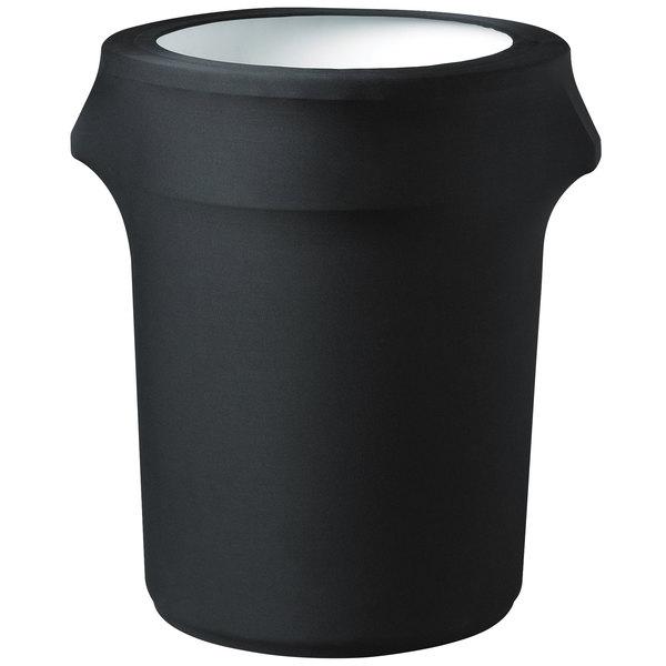 Snap Drape TCCCC55BLACK Contour Cover 55 Gallon Black Spandex Trash Can Cover