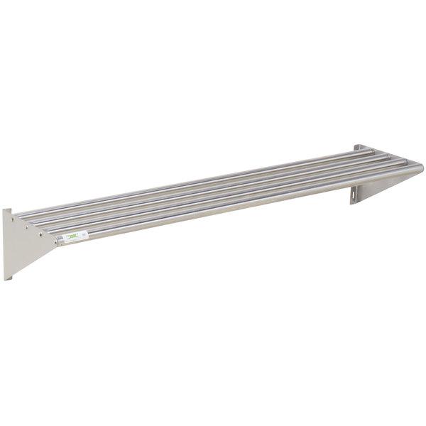 Regency 16 X 72 Stainless Steel Tubular Wall Mounted Shelf