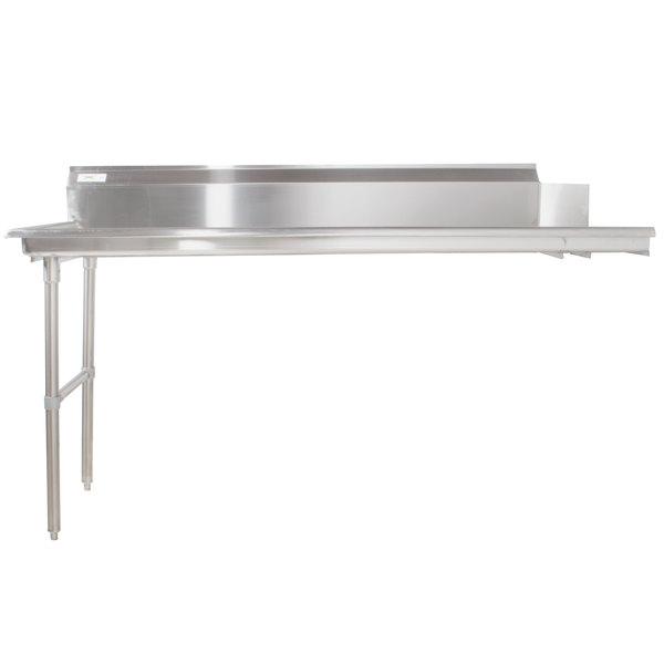 Left Regency 16 Gauge 7' Clean Dish Table