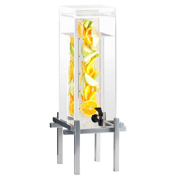 Cal-Mil 1132-3INF-74 Silver One By One 3 Gallon Beverage Dispenser with Infusion Core