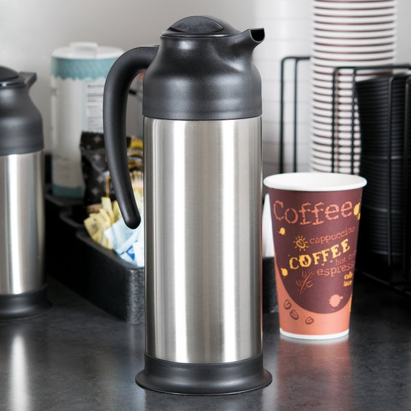 Choice 34 oz. Stainless Steel Insulated Carafe / Server Main Image 4