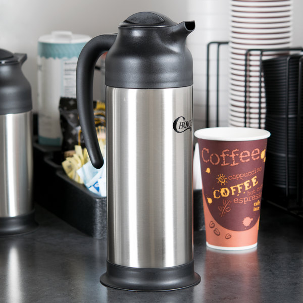 Choice 1 Liter Stainless Steel Insulated Carafe / Server