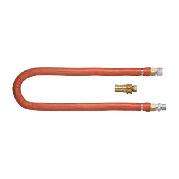 "Dormont H100BIP2Q48 48"" Steam Connector Hose with Quick Disconnect - 1"" Diameter Main Image 1"