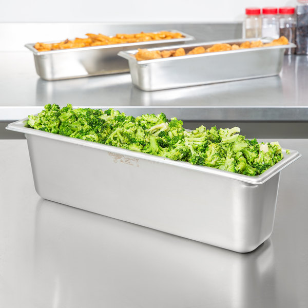 """Vollrath 30562 Super Pan V® 1/2 Size Long Anti-Jam Stainless Steel Steam Table / Hotel Pan - 6"""" Deep"""