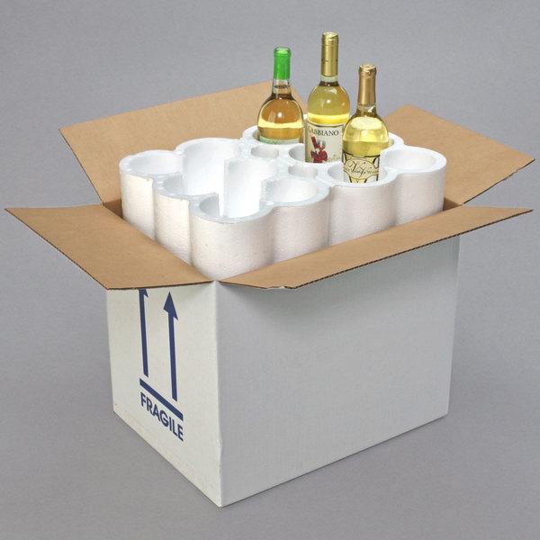 """Polar Tech Safeway 12 Bottle Wine / Champagne Shipper Box - 17 7/8"""" x 13"""" x 15"""""""