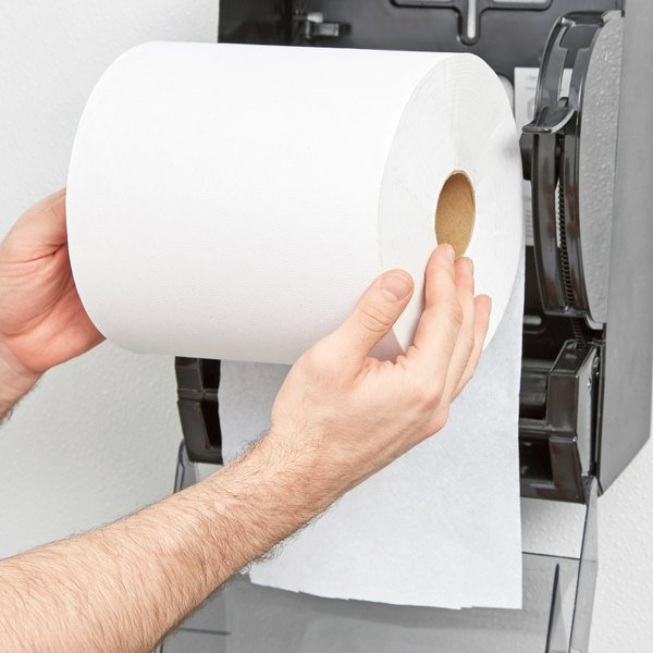 lavex janitorial 800 white hardwound roll paper towel 6case - Paper Towel Roll