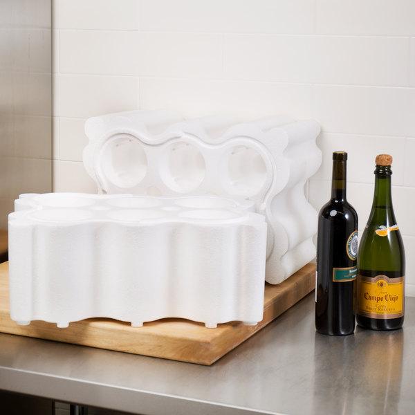 Polar Tech Safeway 6 Bottle White Top Load Insulated Foam Wine / Champagne Shipper