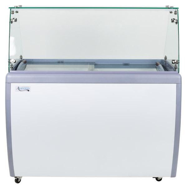 Avantco ADC-8F-HC Flat Glass Ice Cream Dipping Cabinet - 49 inch