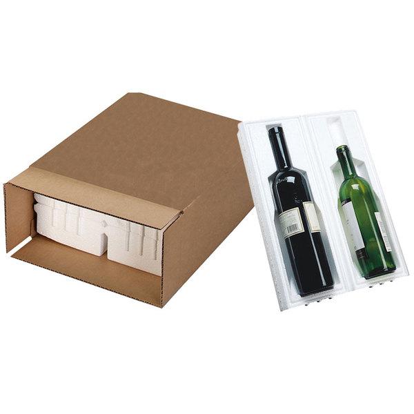 """Polar Tech Safeway 2 Bottle Wine / Champagne Shipper Box - 11 1/2"""" x 5 3/8"""" x 15 15/16"""""""