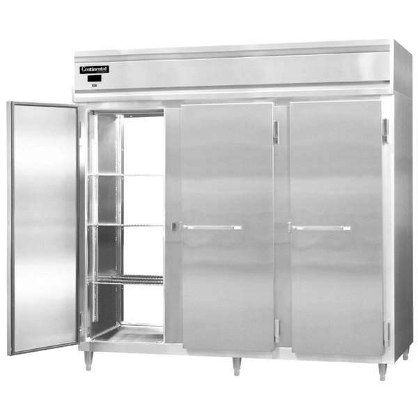 """Continental DL3RE-SA-PT 86"""" Extra-Wide Solid Door Pass-Through Refrigerator Main Image 1"""
