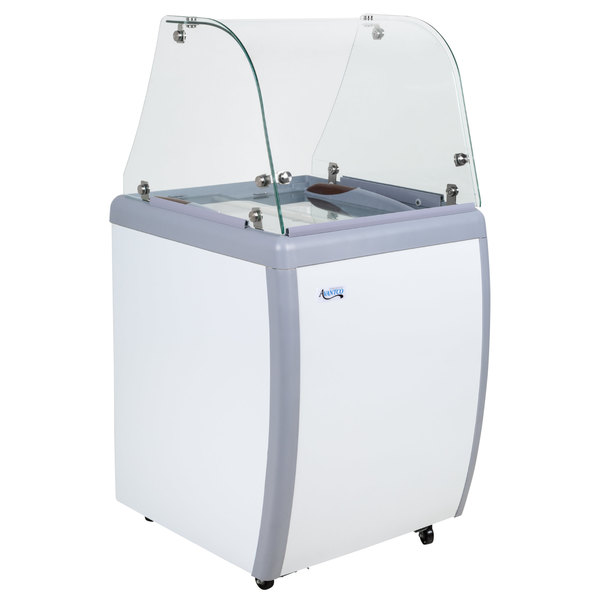 Avantco ADC-4C-HC Curved Glass Ice Cream Dipping Cabinet - 26 inch