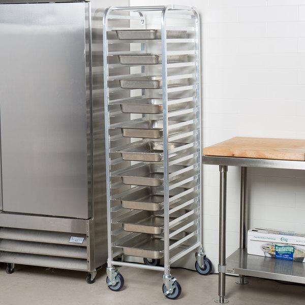 Regency 20 Pan Aluminum Steam Table Pan Rack - Unassembled