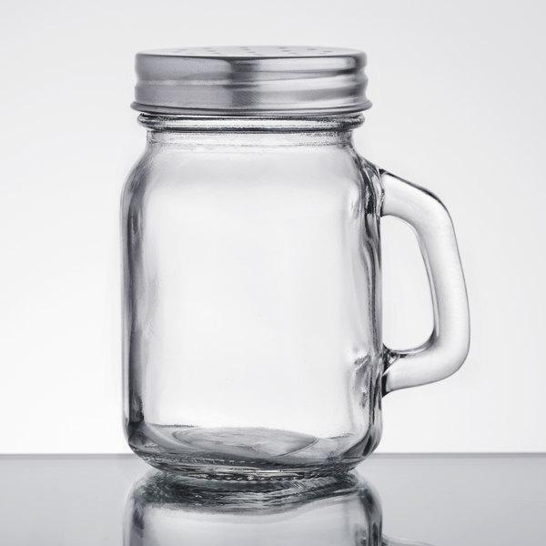 Acopa 475 Oz Mini Mason Jar Salt And Pepper Shaker With Handle And