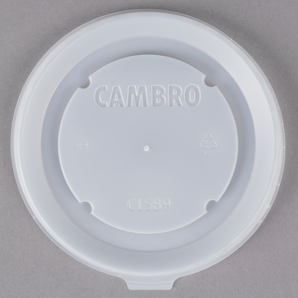 Cambro CLSB9190 Disposable Lid fits Cambro MDSB9110 9 oz. Insulated Bowl for Shoreline Meal Delivery Systems - 1000/Case Main Image 1