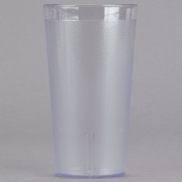 b04425185da9 With its clear design and 16 oz. capacity, this plastic pebbled tumbler is  a staple in many foodservice establishments! A great multi-purpose glass for  ...