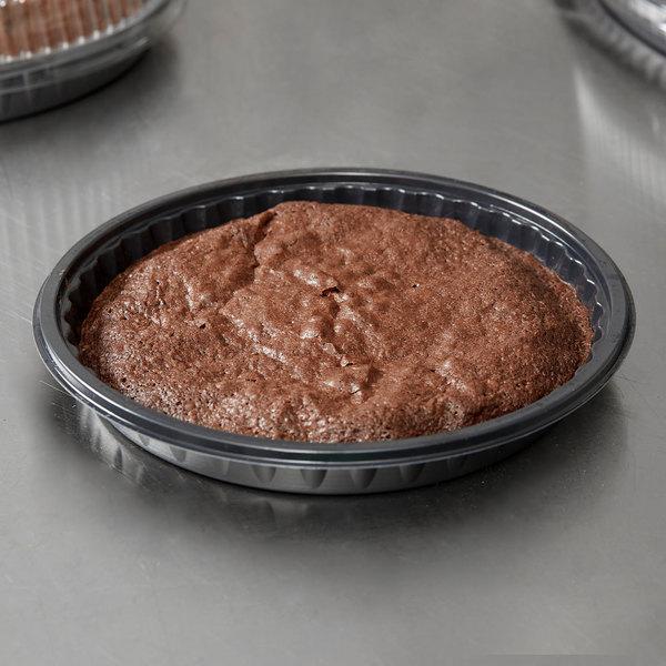 """Genpak 55R10 Bake N' Show 10"""" Dual Ovenable Round Cake Pan - 200/Case Main Image 2"""