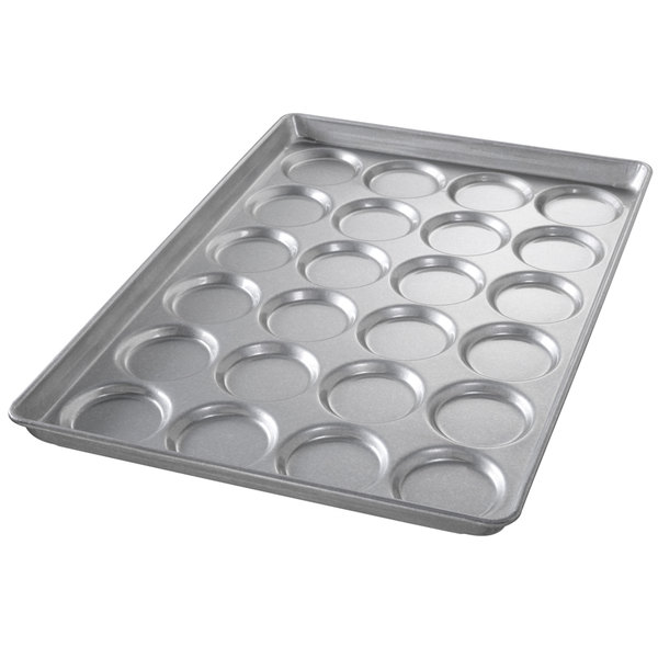 Chicago Metallic 42495 24 Mold Glazed Customizable Individual ePAN Hamburger Bun / Muffin Top / Cookie Pan