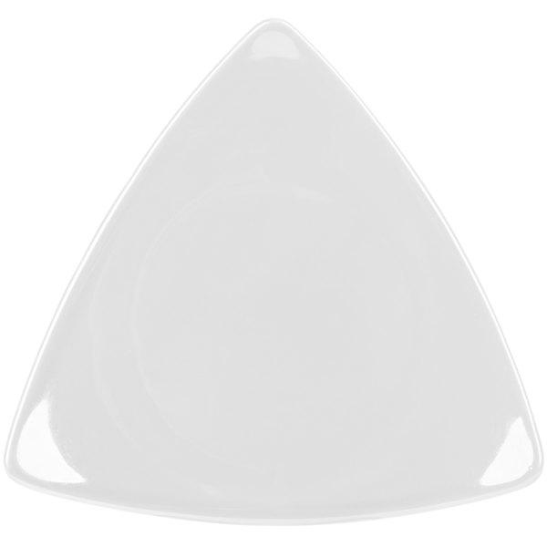 "CAC TRG-16 Festiware Triangle Flat Plate 10 1/2"" - Super White - 12/Case Main Image 1"