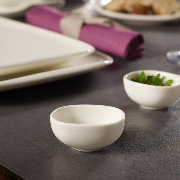 villeroy boch 10 3452 3932 urban nature 1 5 oz white premium porcelain dip bowl 4 case. Black Bedroom Furniture Sets. Home Design Ideas