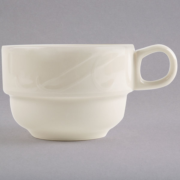 Homer Laughlin 6181000 7.75 oz. Ivory (American White) China Tea Cup - 36/Case