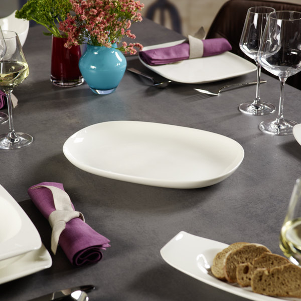 villeroy boch 10 3452 3878 urban nature 13 3 4 x 9 1 2 white premium porcelain oval platter. Black Bedroom Furniture Sets. Home Design Ideas