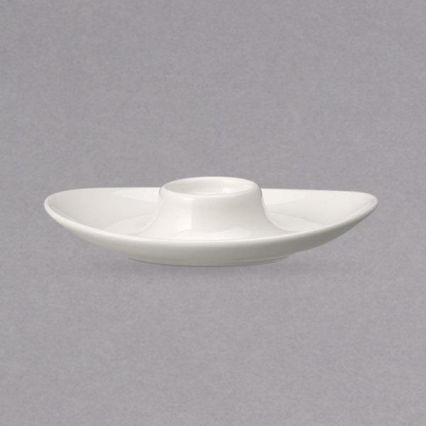 "Villeroy & Boch 16-2040-1951 Universal 5 7/8"" x 4 1/2"" Oval White Premium Porcelain Egg Cup - 6/Case Main Image 1"