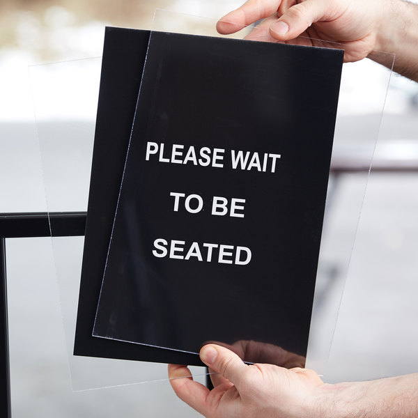 Lancaster Table & Seating Stanchion Sign Set with Clear Covers