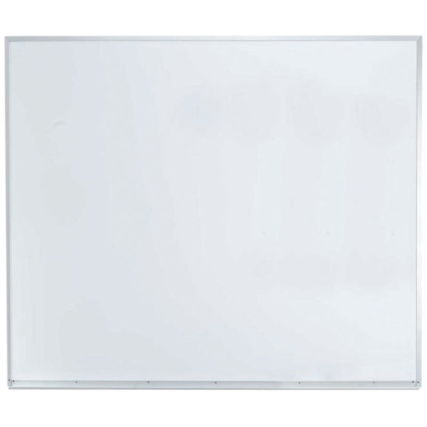 "Aarco APS4860 48"" x 60"" White Syncoat Magnetic Markerboard with Aluminum Frame"