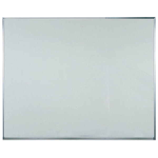 """Aarco WAC4860 Commercial Series 48"""" x 60"""" General Purpose White Melamine Markerboard with Aluminum Frame"""