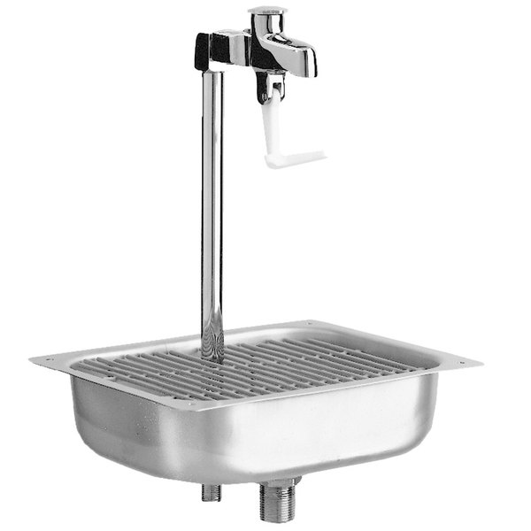 """Fisher 59110 Water Station with 12"""" Stainless Steel Pedestal Glass Filler - 2.2 GPM Main Image 1"""