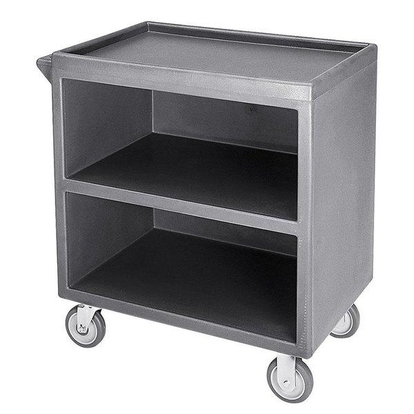 "Cambro BC3304S191 Granite Gray Three Shelf Service Cart with Three Enclosed Sides - 33 1/8"" x 20"" x 34 5/8"" Main Image 1"