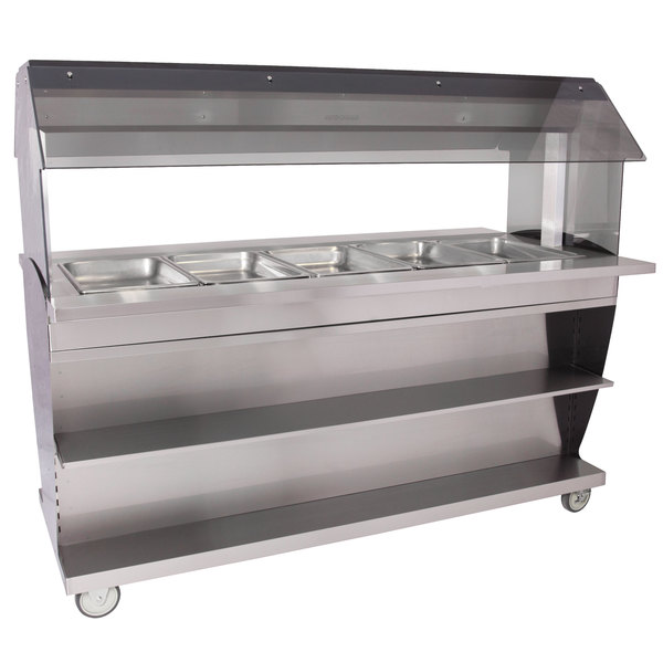 Alto-Shaam HFT2SYS-500 Five Pan Mobile Electric Hot Food Buffet Table - 240V Main Image 1